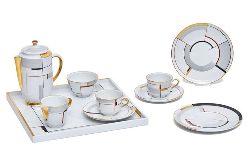 Bauhaus-porselein: HALLE'SCHE FORM tafelgerei van KPM