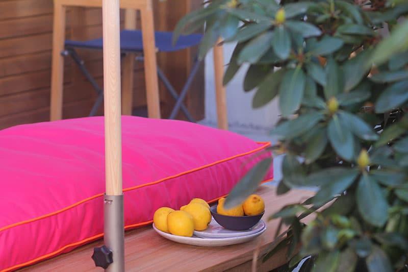 Weishäupl stoelbekleding in roze en oranje